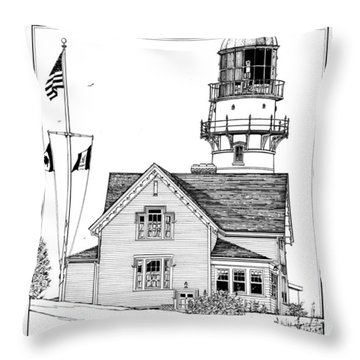 Cape Elizabeth Lighthouse Throw Pillow