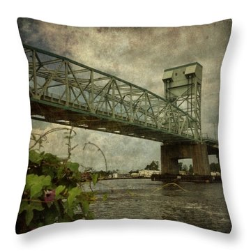 Cape Fear Morning Glory Throw Pillow by Dorian Hill