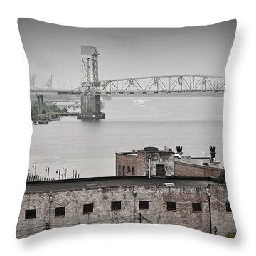 Cape Fear River - Photography By Jo Ann Tomaselli Throw Pillow