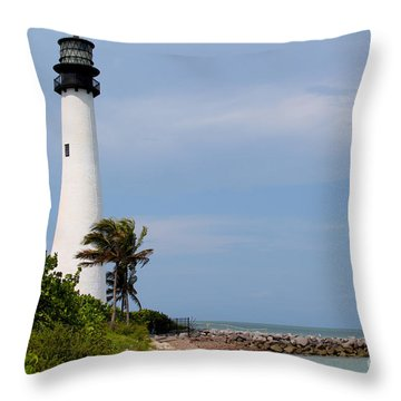Cape Florida Beach Throw Pillow by Carey Chen