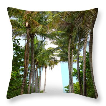 Cape Florida Walkway Throw Pillow by Carey Chen
