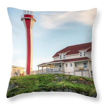 Cape Forchu Lighthouse Throw Pillow
