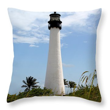 Cape Forida Throw Pillow by Carey Chen