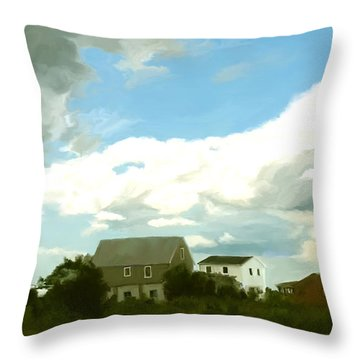 Cape House Throw Pillow by Paul Tagliamonte