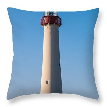 Cape May Lighthouse Throw Pillow by Jennifer Ancker