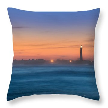 Cape May Lighthouse Sunset Throw Pillow