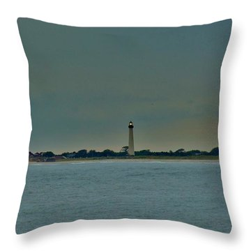 Throw Pillow featuring the photograph Cape May Point by Ed Sweeney