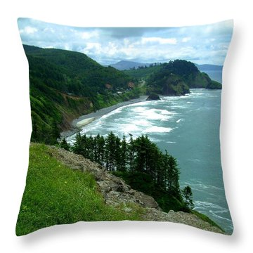 Cape Meares Throw Pillow