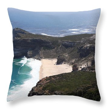 Cape Of Good Hope Coastline - South Africa Throw Pillow
