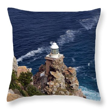 Cape Of Good Hope Lighthouse Throw Pillow