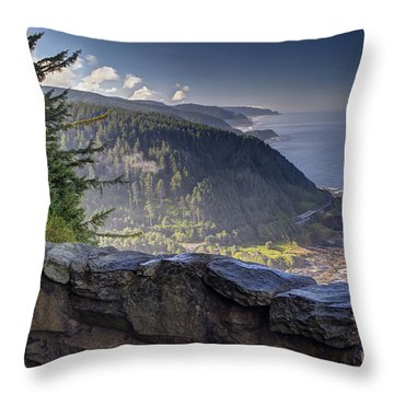 Cape Perpetua Lookout Throw Pillow