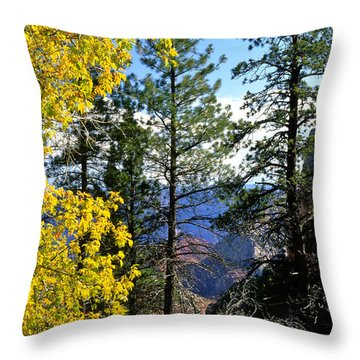 Cape Royal Grand Canyon Throw Pillow by Ed  Riche