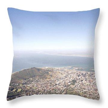 Cape Town Panorama Throw Pillow by Shaun Higson