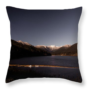 Capilano Dam In Colour Throw Pillow