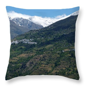 Capileira And Bubion - Alpujarras - Spain Throw Pillow