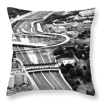 Capital Beltway Throw Pillow