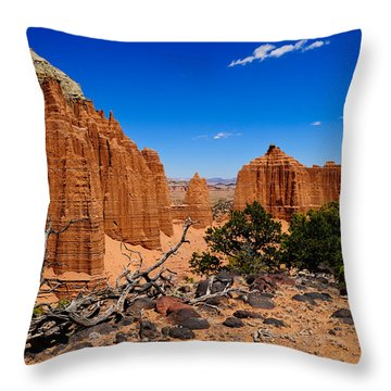 Capital Reef Throw Pillow by Donald Fink