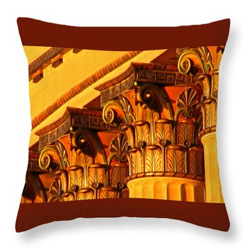Capitals Throw Pillow by Christopher Woods