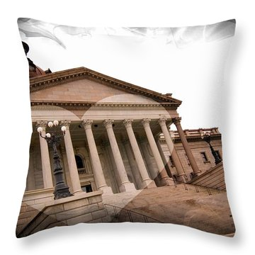 Throw Pillow featuring the photograph Capitol Columbia South Carolina by Bob Pardue