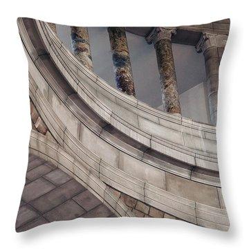 Capitol Curves Throw Pillow