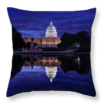 Capitol Morning Throw Pillow