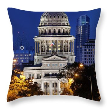 Capitol Of Texas Throw Pillow by Silvio Ligutti