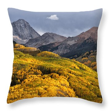 Capitol Peak In Snowmass Colorado Throw Pillow