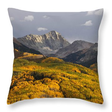 Throw Pillow featuring the photograph Capitol Peak Panorama by Aaron Spong