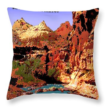 Capitol Reef National Park Vintage Poster Throw Pillow by Eric Glaser