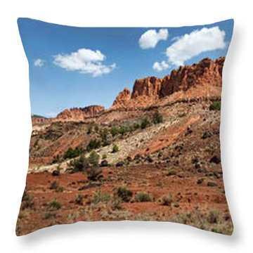 Throw Pillow featuring the photograph Capitol Reef Panorama No. 1 by Tammy Wetzel
