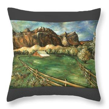 Capitol Reef Utah - Landscape Art Painting Throw Pillow