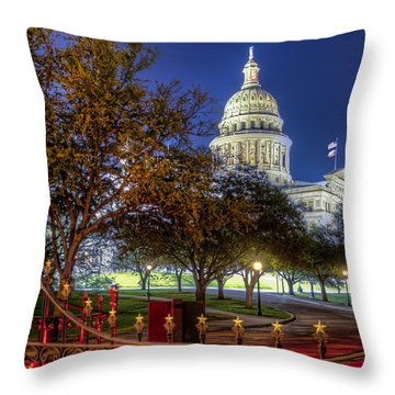 Capitol Stars Throw Pillow by Tim Stanley