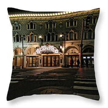 Throw Pillow featuring the photograph Capitol Theatre by Ely Arsha