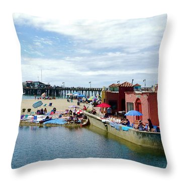 Capitola Begonia Festival Weekend Throw Pillow by Amelia Racca
