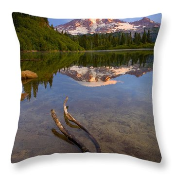 Capped Sunrise Throw Pillow