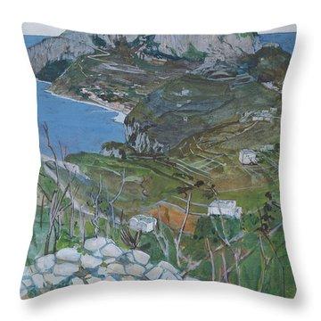 Capri, C.1904 Throw Pillow by Maurice Greiffenhagen