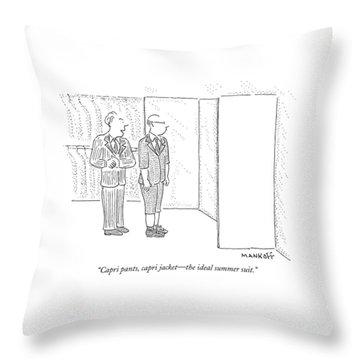 Capri Pants Throw Pillow