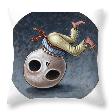 Caprichos Calaveras #1 Throw Pillow by Holly Wood