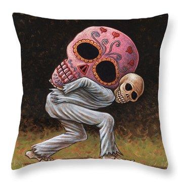 Caprichos Calaveras #4 Throw Pillow by Holly Wood