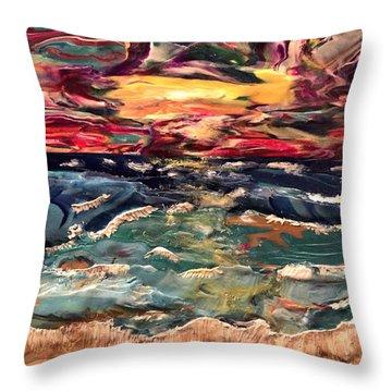 Capricious Sea Throw Pillow