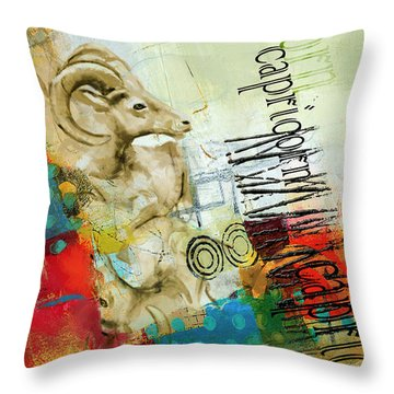 Capricorn Star Throw Pillow by Corporate Art Task Force