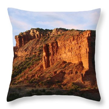 Throw Pillow featuring the photograph Caprock Canyon by Linda Cox