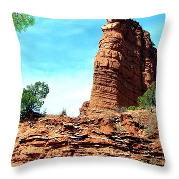 Throw Pillow featuring the photograph Caprock Canyon Red by Linda Cox