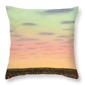 Caprock Sunrise Throw Pillow by James W Johnson