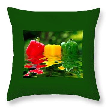 Capsicum Afloat Throw Pillow