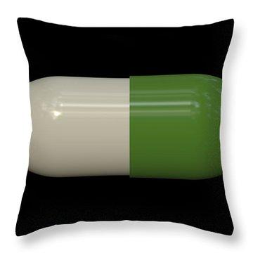 Capsule Pop Art Throw Pillow by Daniel Hagerman