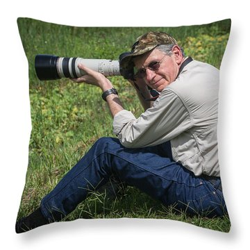 Capt. Greg At Jefferson Island Throw Pillow