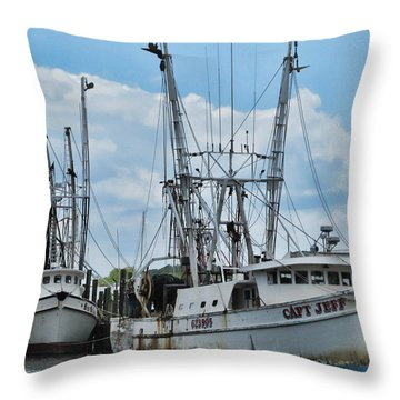 Throw Pillow featuring the photograph Capt. Jeff by Victor Montgomery