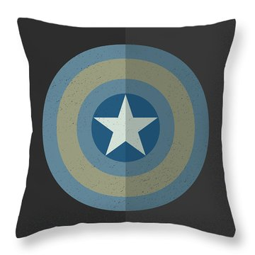 Throw Pillow featuring the digital art Captain America Winter Soldier by Mike Taylor