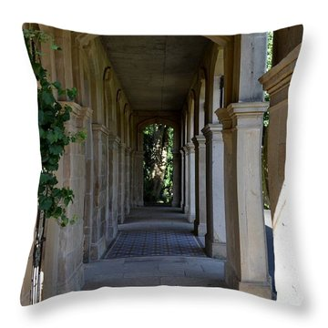 Captain Cook Museum Walkway Throw Pillow